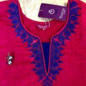 Princess by Fasis Tops - Pink Top PRINCESS by Fasis NWT Tunic W Blue Trim
